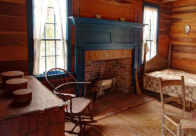 Interior of the Mount Locust Inn on the Natchez Trace Parkway, Mississippi.