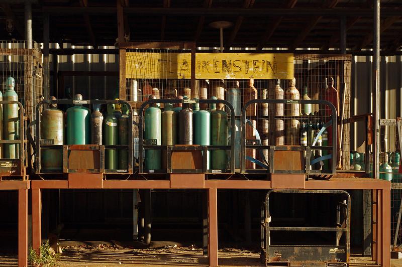 Gas cylindars, Blankenstein's, Natchez, Mississippi.