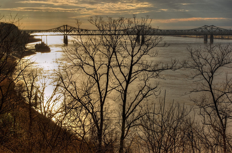 Bridge across the Mississippi River from Natchez, Mississippi to Vidalia, Lousiana.