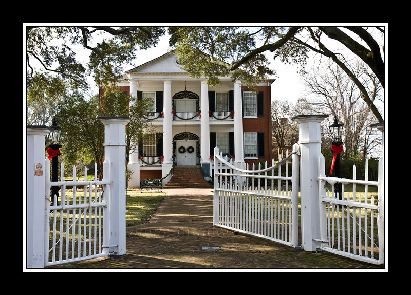 Rosalie Mansion is a historic pre-Civil War mansion in Natchez, Mississippi, significant for its influence on architecture in a wide area. During the American Civil War, it served as Union headquarters for the Natchez area from July 1863. <br /> It was built for a wealthy cotton broker in 1823 on the bluff overlooking the Mississippi River, on a portion of the site of the Natchez Indians massacre of the French in 1729 at Fort Rosalie. It has been owned, operated and maintained by the Mississippi State Society Daughters of the American Revolution for over 70 years. On July 13, 1863 General Grant took possession of Rosalie to use as Union Army Headquarters. On August 26, 1863 General Walter Gresham took command of Union Army troops at Natchez. His headquarters remained at Rosalie.<br /> Gresham had much of the owner's furnishings stored in the attic and put under guard to prevent theft or destruction. Union army tents covered much of the property surrounding the mansion. Union Army soldiers were placed in position in the observatory on top of the mansion