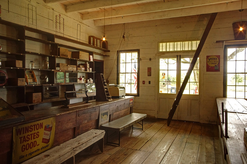 Prudhomme General Store, interior. Oakland Plantation, near Natchitoches, Louisiana.