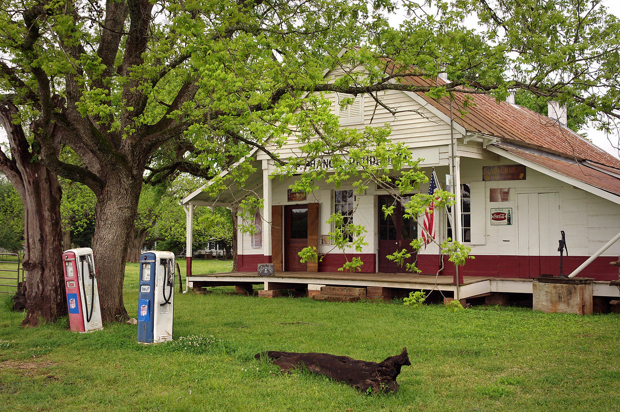 Prudhomme General Store, Oakland Plantation, near Natchitoches, Louisiana.<br /> <br /> From this same store, share croppers could buy needles and thread in 1873, letters could be mailed until 1967, and anybody with 50 cents could buy a candy bar as late as 1982.