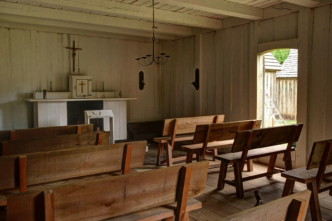 Chapel, Fort St. Jean Baptiste State Historic Site, Natchitoches, Louisiana.