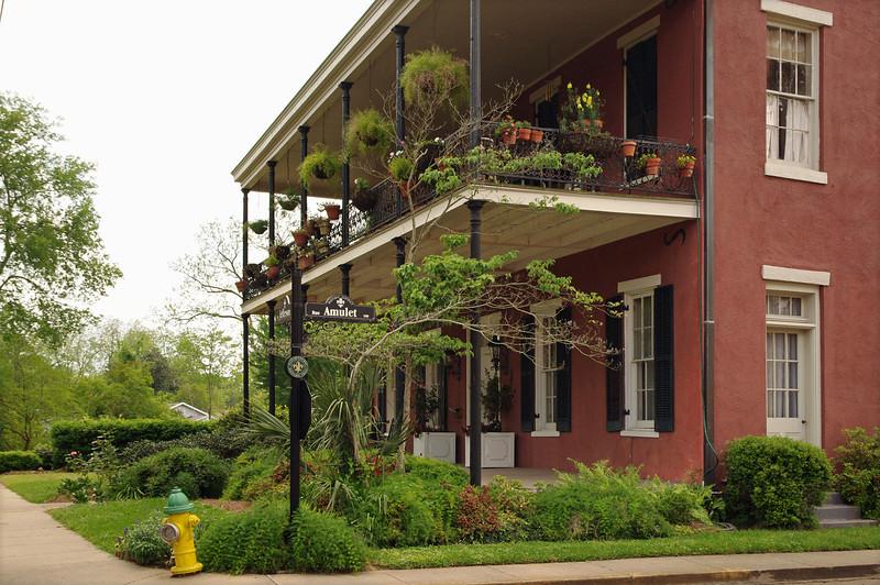 Historic house on Jefferson Street, Natchitoches, Louisiana.