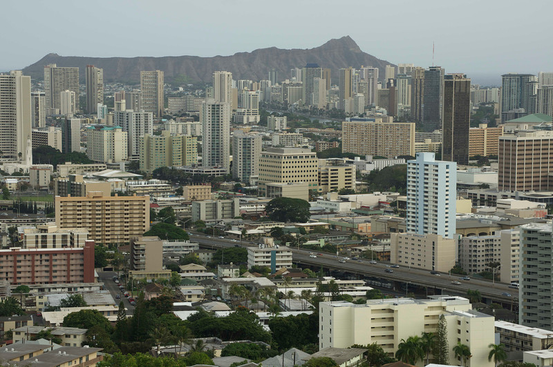 Another view of Honolulu with Diamond Head in the background.