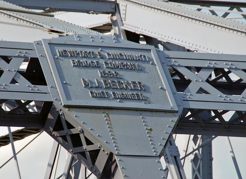 Originally the first railroad bridge across the Ohio River in Cincinnati, it also carried streetcars, automobiles and pedestrians.