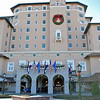 The main entrance of the Broadmoor Resort, Colorado Springs.