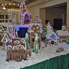 A gingerbread house display at the Broadmoor.