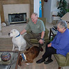 David and Edie Finkleman with two of their dogs in their home in Colorado Springs.