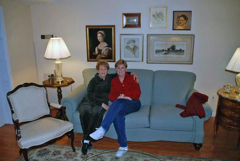 Barbara Finkleman and Jean Finkleman at Barbara's condominium apartment in Denver.