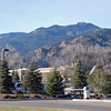 A view of the mountains from the Broadmoor.