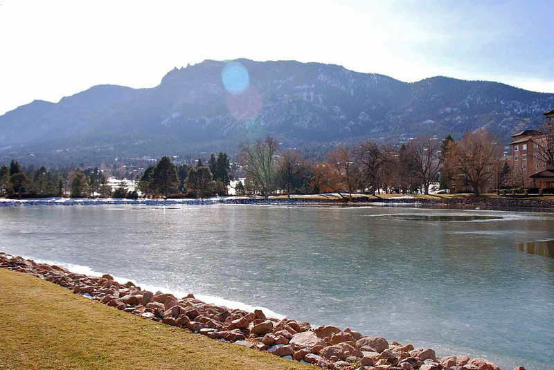 The lake at the Broadmoor, Colorado Springs.