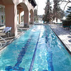 An outdoor, heated lap pool at the Broadmoor.