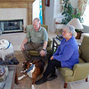 David and Edie Finkleman with their three dogs in their home in Colorado Springs.
