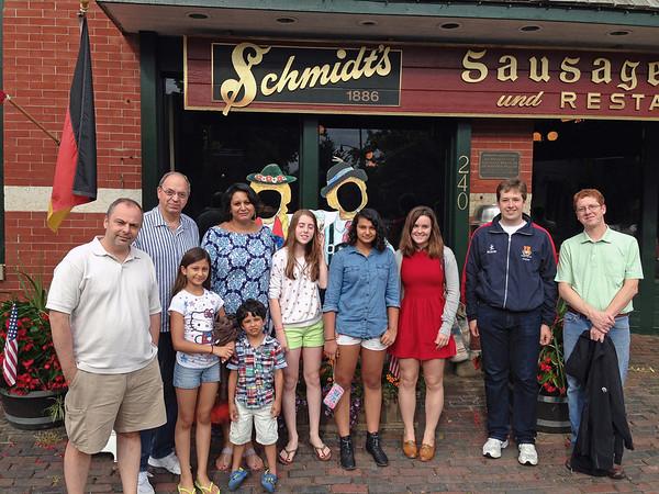 CCFC fencers at Schmidt's Sausage Haus.