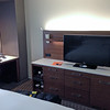 Hilton hotel room.