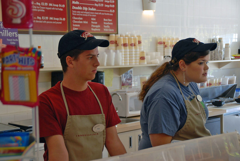 The staff at Graeter's Ice Cream.