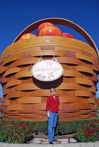 Jean at the Longaberger Homestead.