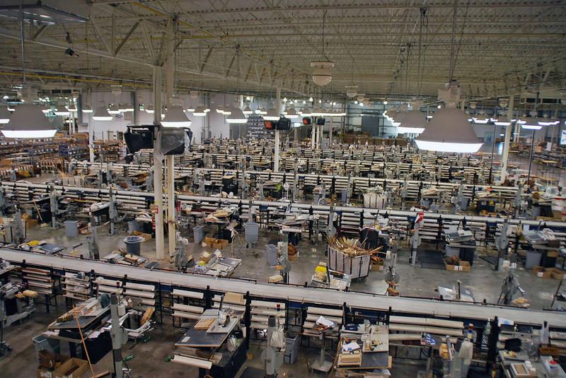 The Longaberger factory floor.