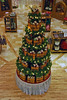 A basket Christmas tree at the Longaberger At Home Store.