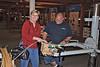 Jean making a Longaberger basket.