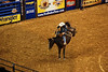 Saddle bronc riding at the rodeo.