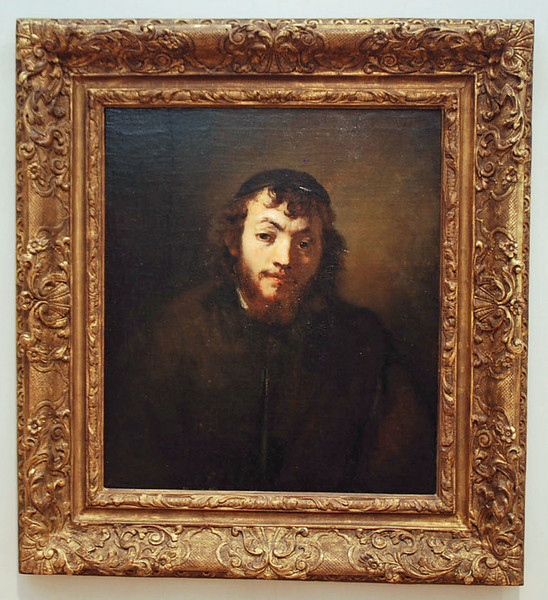 """Rembrandt van Rijn, """"Bust of a Young Jew"""", Kimbell Art Museum, Fort Worth, Texas.  See next slide for history of the painting."""