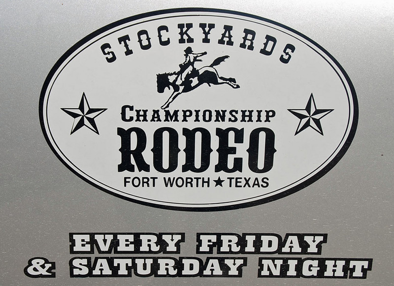 There's a rodeo every weekend at the Stockyards in Fort Worth.