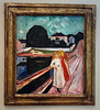 "Edvard Munch's ""Girls on the Pier"" displayed at the Kimbell Art Museum, Fort Worth, Texas.  See next slide for history of the painting."