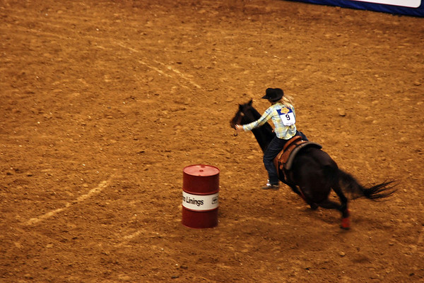 Women's barrel racing.