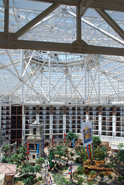 The glass roof of the Gaylord Texan Resort.