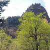 A view of Beacon Rock, 850 feet tall and the second largest single rock in the world.