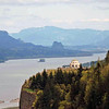 A view of the Vista House in the Columbia River Gorge.
