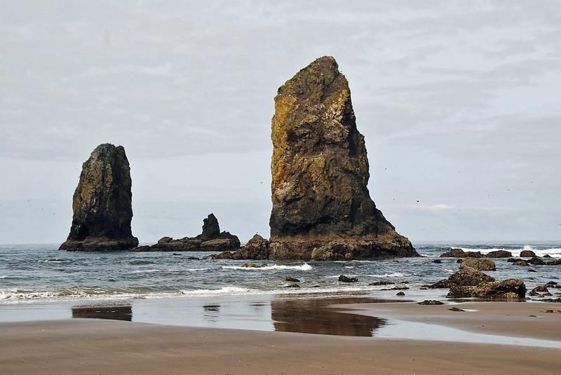 The Needles near Haystack Rock, Cannon Beach, Oregon.