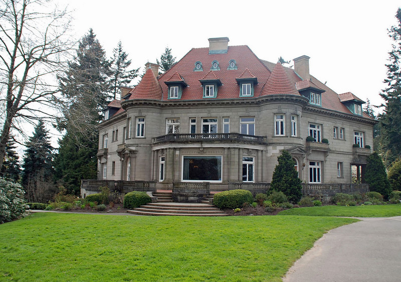 The Pittock Mansion, Portland, Oregon.