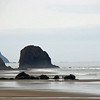 The rocks at Cannon Beach, Oregon.