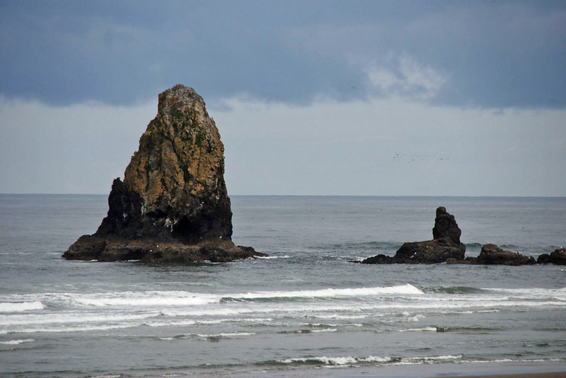 The rocks at Cannon Beach.