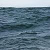 The choppy Pacific Ocean.