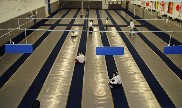 The main fencing floor of the Northwest Fencing Center.