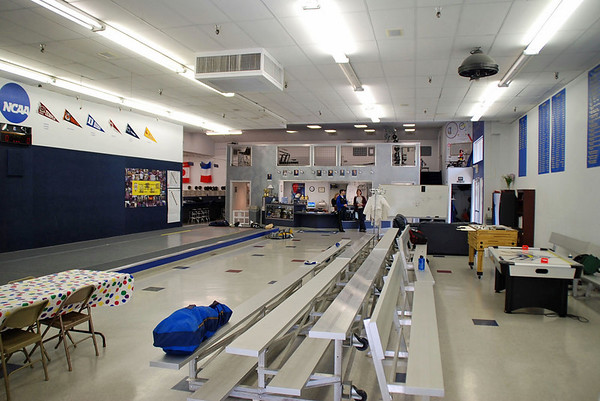 The finals area of the Northwest Fencing Center.