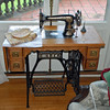The sewing machine in the sewing room was just like the one that our grandmothers used.
