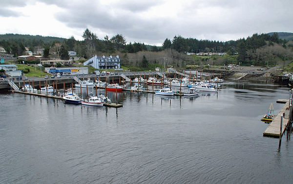 Depoe Bay harbor.