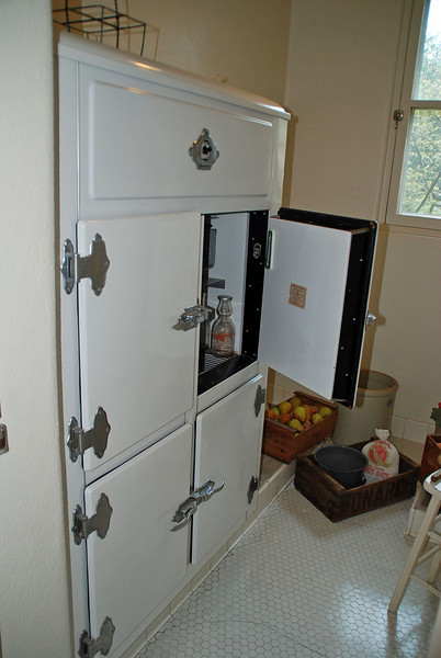 The refrigerator was in an insulated room in the Pittock Mansion.