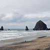 We can see the famous Haystack Rock in Cannon Beach from our oceanside deck.
