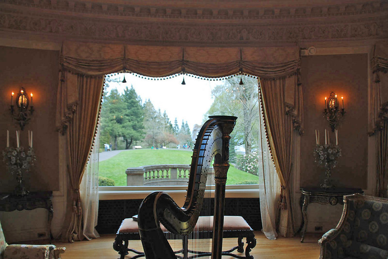 The view out the window of the music room at Pittock Mansion, Portland, Oregon.