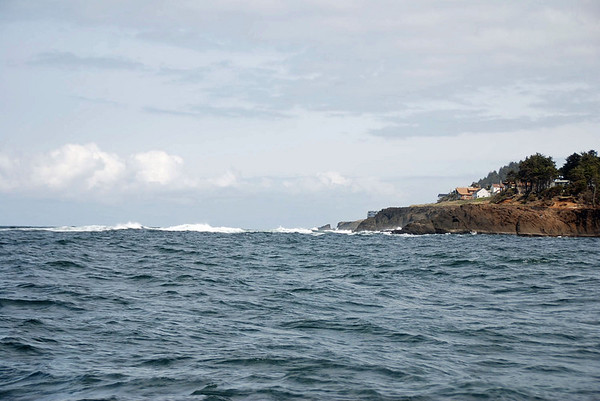 Approaching the shore.