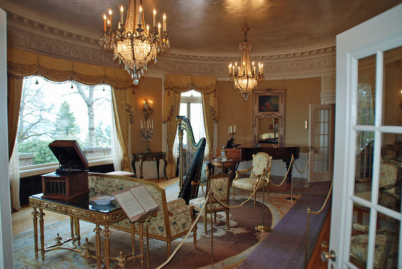 The music room at Pittock Mansion.