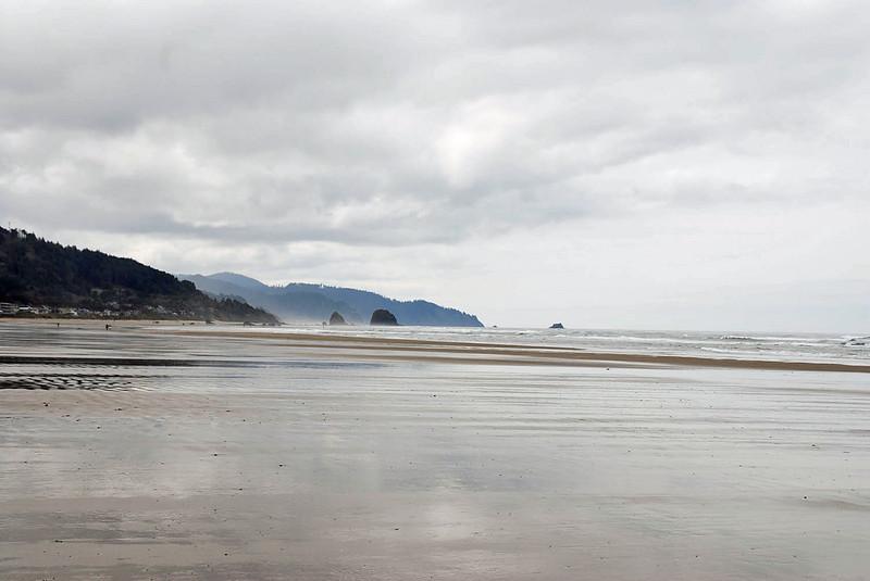 The Oregon coast at Cannon Beach.