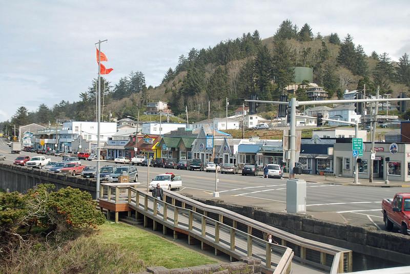 Downtown Depoe Bay, Oregon.