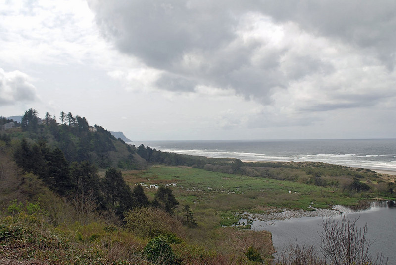 The Oregon coast off Highway 101 between Depoe Bay and Cannon Beach.